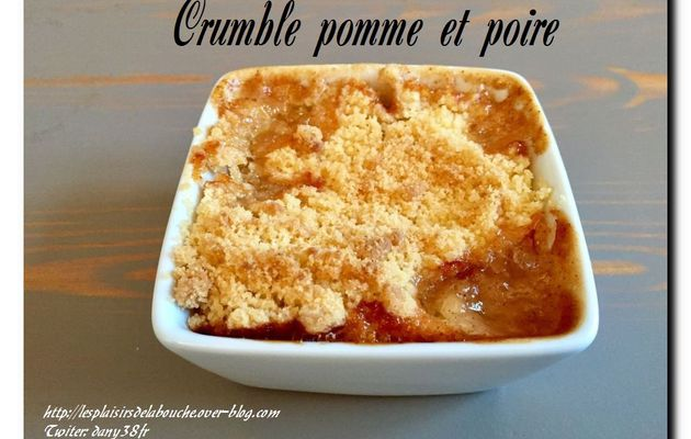 Crumble pomme poire