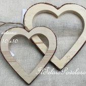 1 cornice a cuore cm. 10x10 esterno