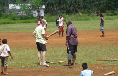 Initiation au cricket pour nos vacanciers