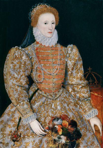 Elisabeth 1er dit The Darnley Portrait vers 1575 ,huile sur bois, National Portrait Gallery, London England