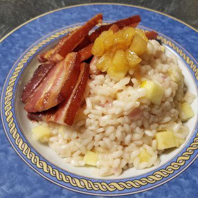 Le risotto pommes et bacon de Food wars