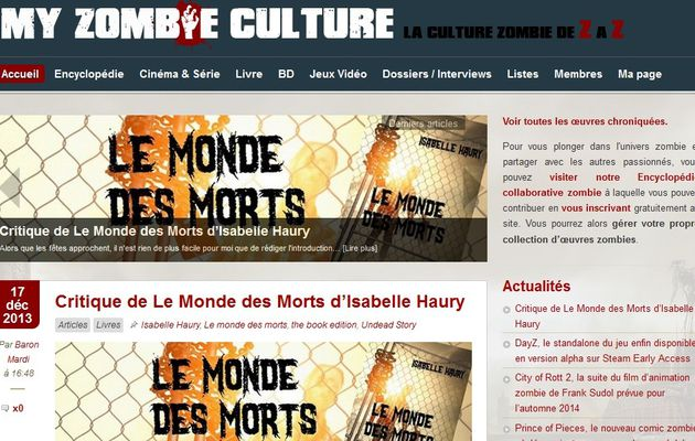 Le Monde Des Morts, la critique de My Zombie Culture !