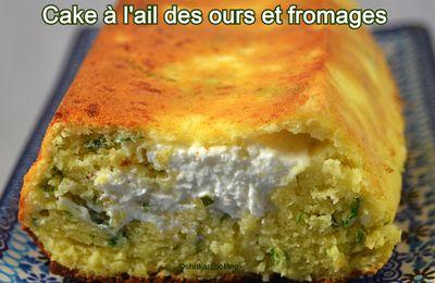 Cake à l'ail des ours et fromages