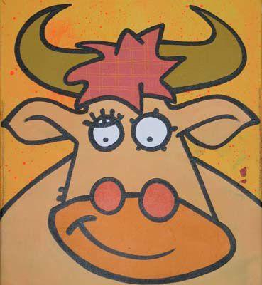 Vache jaune