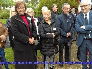 Commémoration abandon des harkis, du 12 mai 2018 à Oloron Sainte-Marie (64)