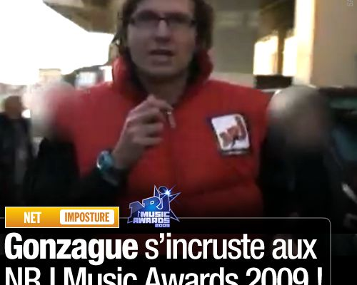Gonzague s'incruste aux NRJ Music Awards 2009 !