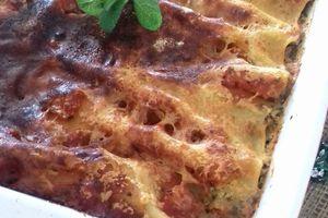 Cannelloni ricotta saumon frais et épinards
