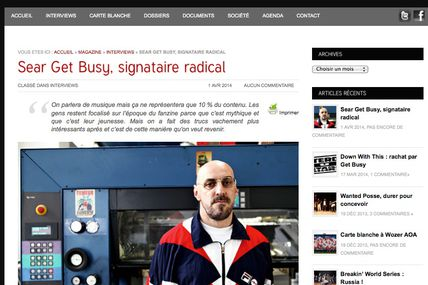 Sear / Get Busy, signataire radical - Down with this #InterditAuxBâtards