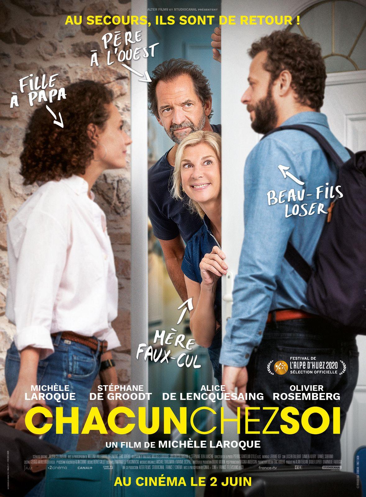 CHACUN CHEZ SOI, la comédie de Michèle Laroque, au Cinéma le 2 Juin 2021