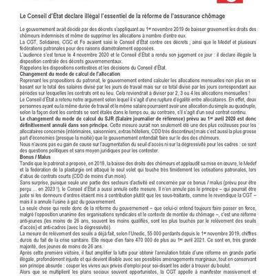 Le Conseil d'État déclare illégal l'essentiel de la réforme de l'assurance chômage