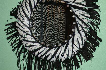 Miroir en caoutchouc Terri Miller 2 Zebra