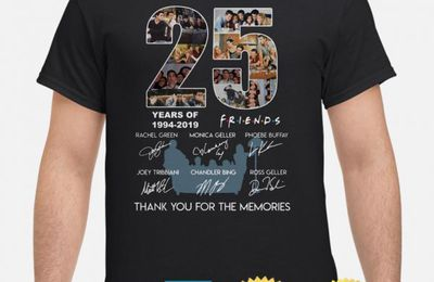 25 years of Friends TV show thank you for the memories shirt