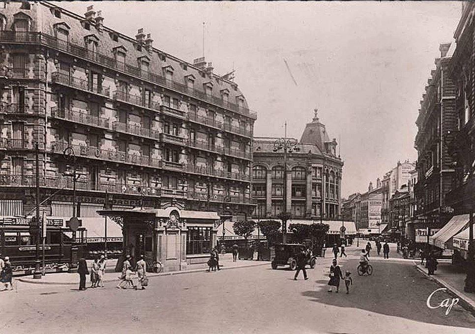 scêne de vie quotidienne rue Felix Poulat en 1940