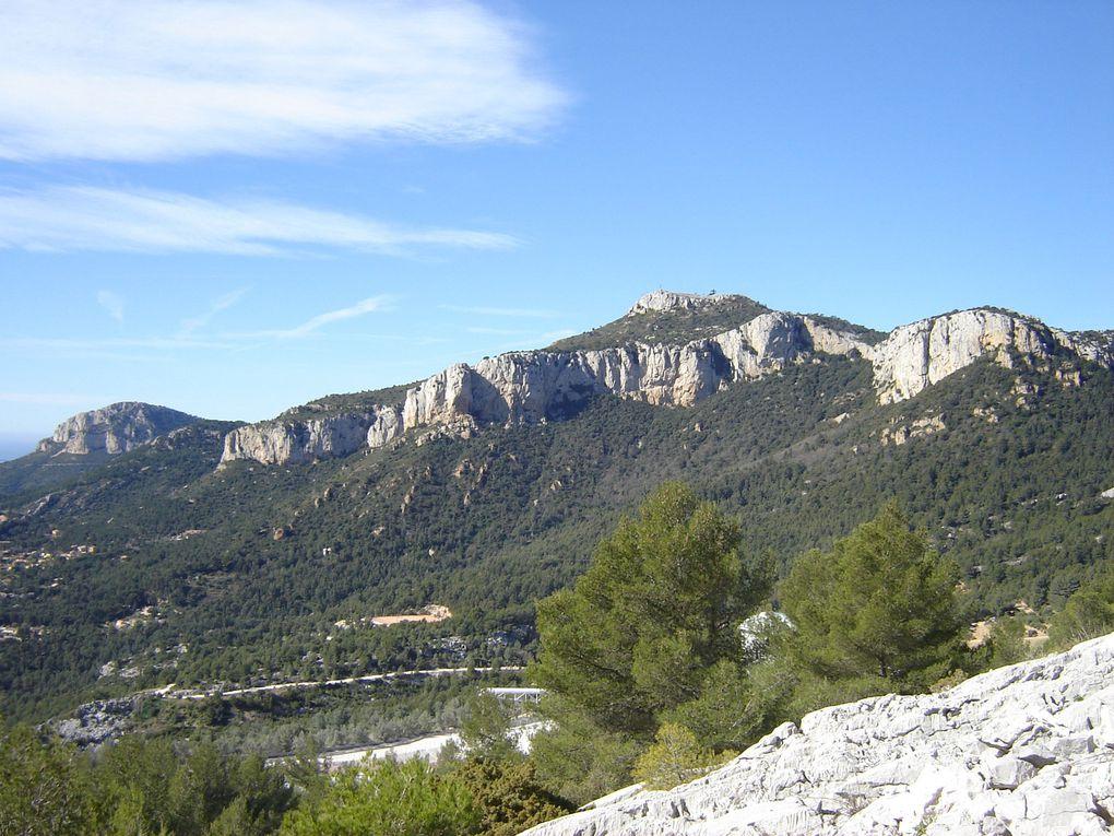 Le mont Caume , 804m , mont de l'aire toulonnaise