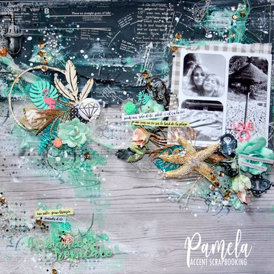 """Ambiance Tropical"" Pour Accent Scrapbooking"