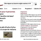 Filet mignon au Boursin weight watchers au cookeo : la fiche |