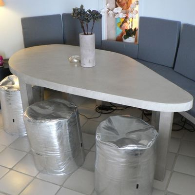banquette d angle table beton