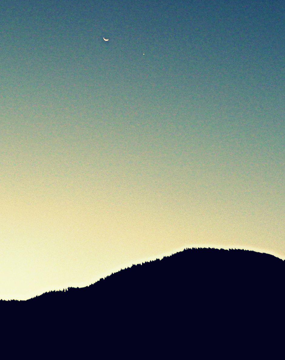 Conjonction Lune-Vénus ce matin photo à 7 heures