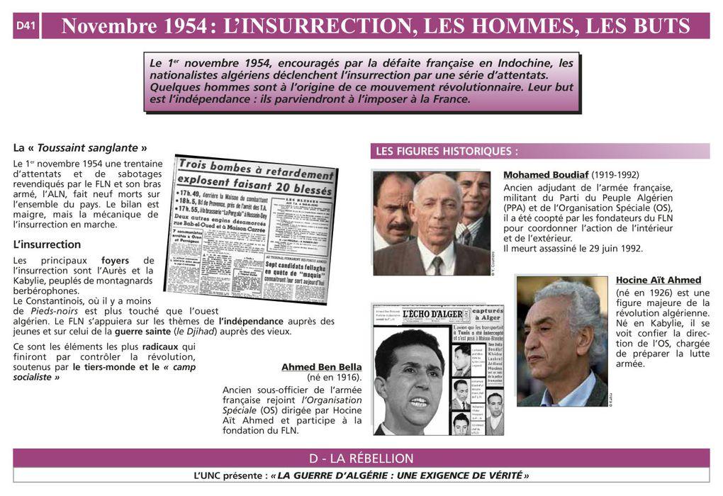 """Ensemble des tableaux de l'exposition : La guerre d'Algérie """"Une exigence de vérité"""" Septembre 2009"""