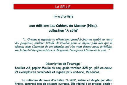 """""""La Belle"""", livre d'artiste de notre ursidé Michel Diaz, photos de Rieja Van Aart"""