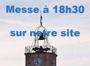 Messe en direct depuis l'oratoire de la Maison Saint François sur notre site à 18h30