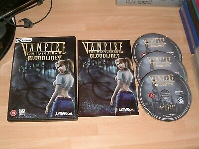 Vampire The Masquerade: Ultimate Bloodlines [DVD] Pc Game