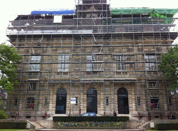 échafaudage rénovation mairie IVRY