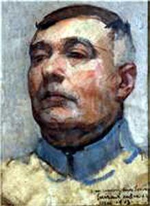 Autoportrait de Lucien Victor Guirand de Scévola en 1917