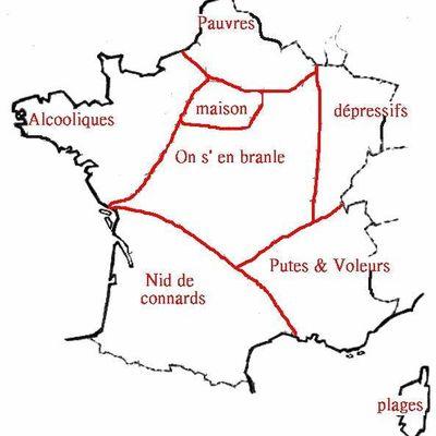 Paris/Province, la carte de France vue par...