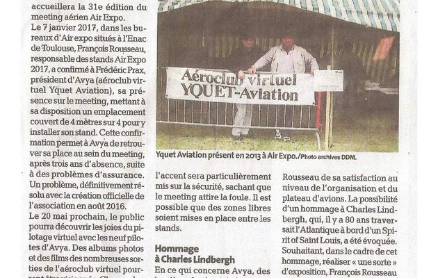 "La version ""Papier"" de l'article de La Dépêche du midi..."