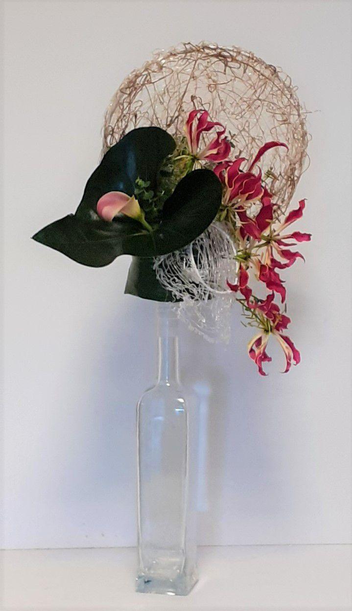 """Retour en photos """"Fleur & métal"""" , un très beau cours, très créatif !!"""