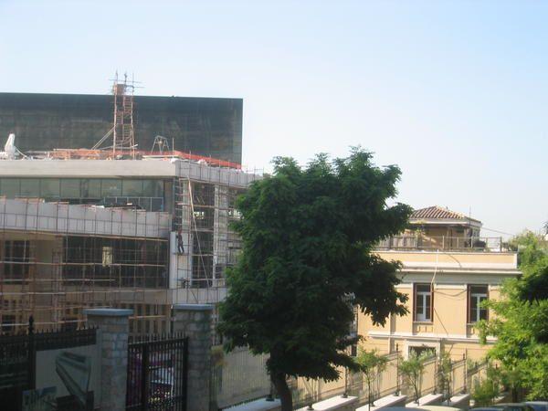 Acropolis Muséum d'Athènes en construction. Photos et dessins: E.CRIVAT 2005-2007