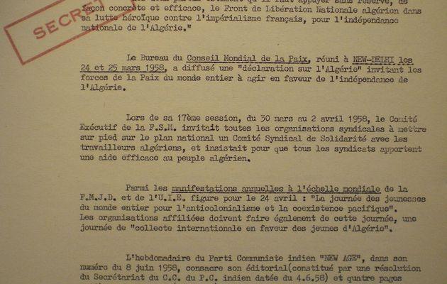 L'aide communiste à la rébellion algérienne 7/25