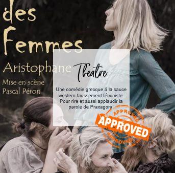 J'ai testé L'Assemblée des Femmes d'Aristophane interprétée par la troupe de théâtre La Grande Carriole