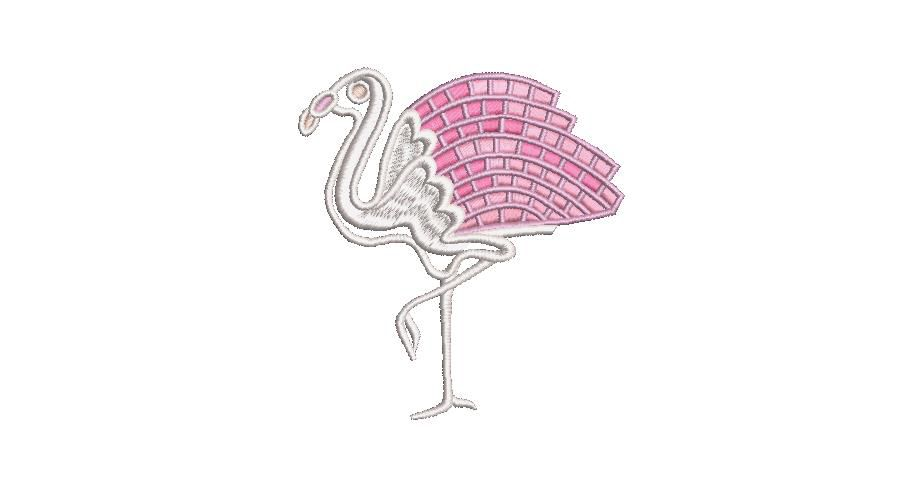 BRODERIE FLAMANT ROSE