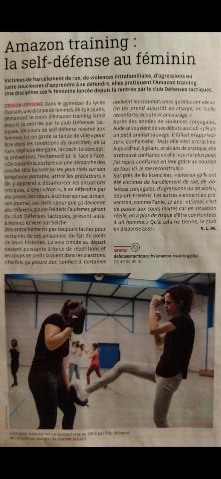 Voici une nouvelle fois le club défenses tactiques mis à l'honneur dans le magazine Rennes Métropole.