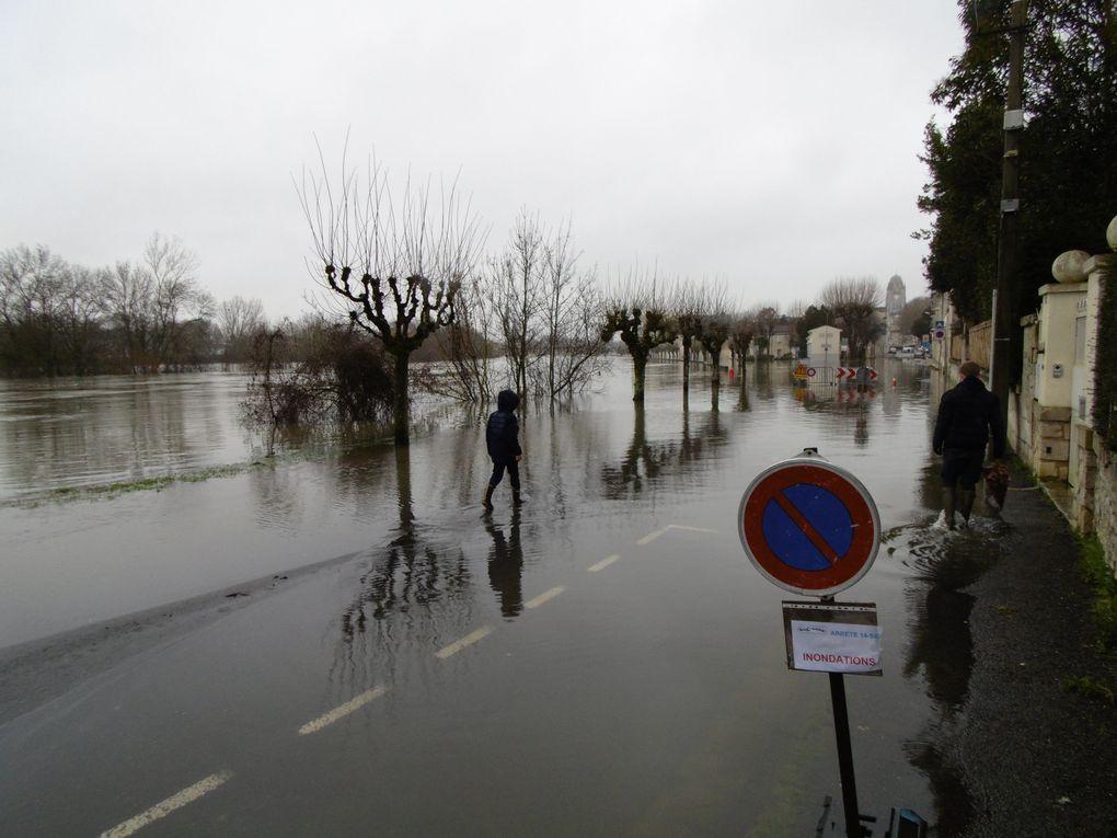 Images de ce vendredi.. il semble que l'état du fleuve soit stationnaire..... pas trop chiffrable en centimètres...