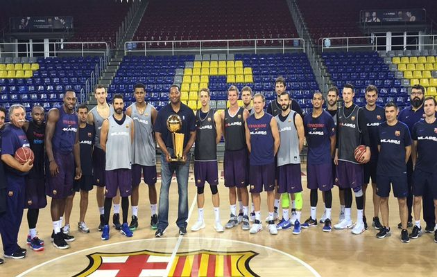 Robert Horry a rendu visite au Barça