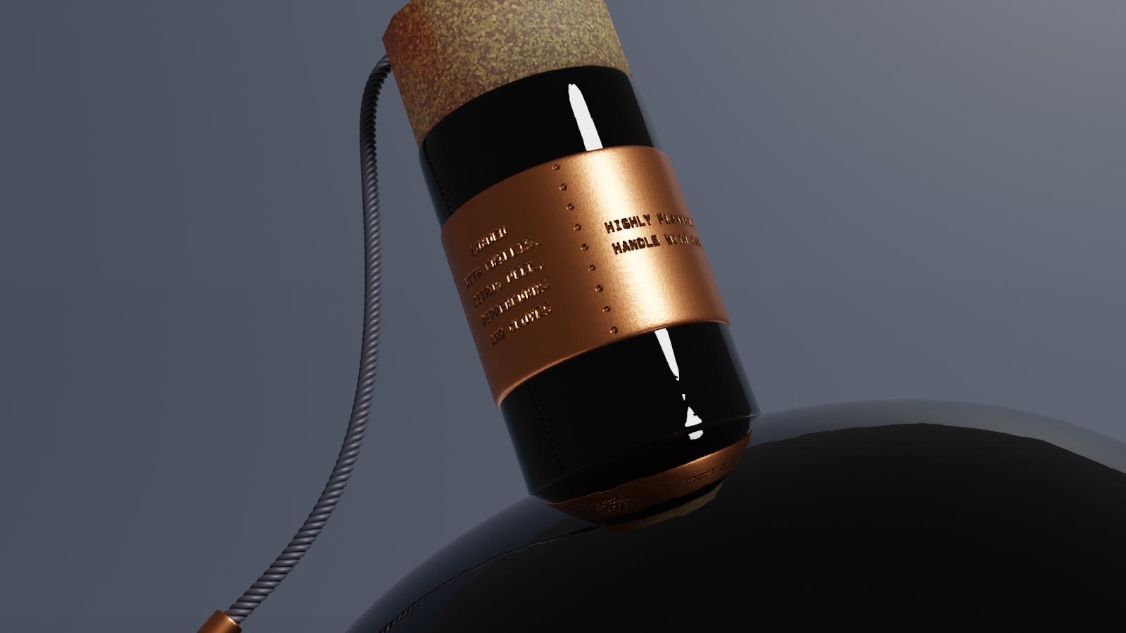 Gunpowder Mill Black Spiced Rum (rhum épicé) I Design (projet étudiant) : Holly McNicholas ( University of Central Lancashire), Royaume-Uni (février 2021)