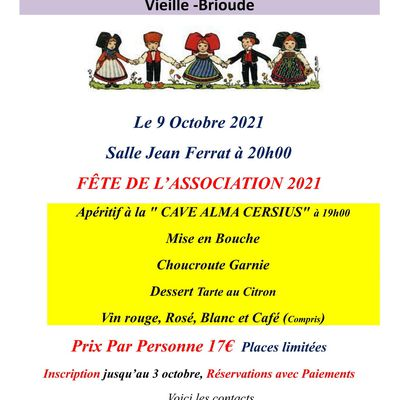 """L'Association Jumelage """"Portiragnes - Vieille-Brioude"""" communique"""