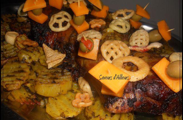 ♥ Epaule d'agneau marinée / country potatoes