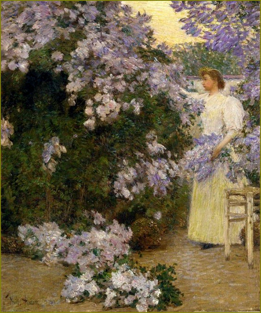 Lilas Frederick Childe Hassam, (1859-1935)