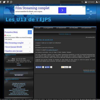 Les U13 de l'EJPS