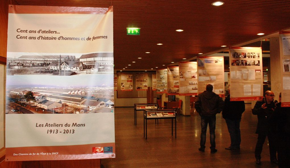 13 janvier 2015 - Le Mans Université - Vernissage de l'exposition sur le Centenaire des ateliers du Mans