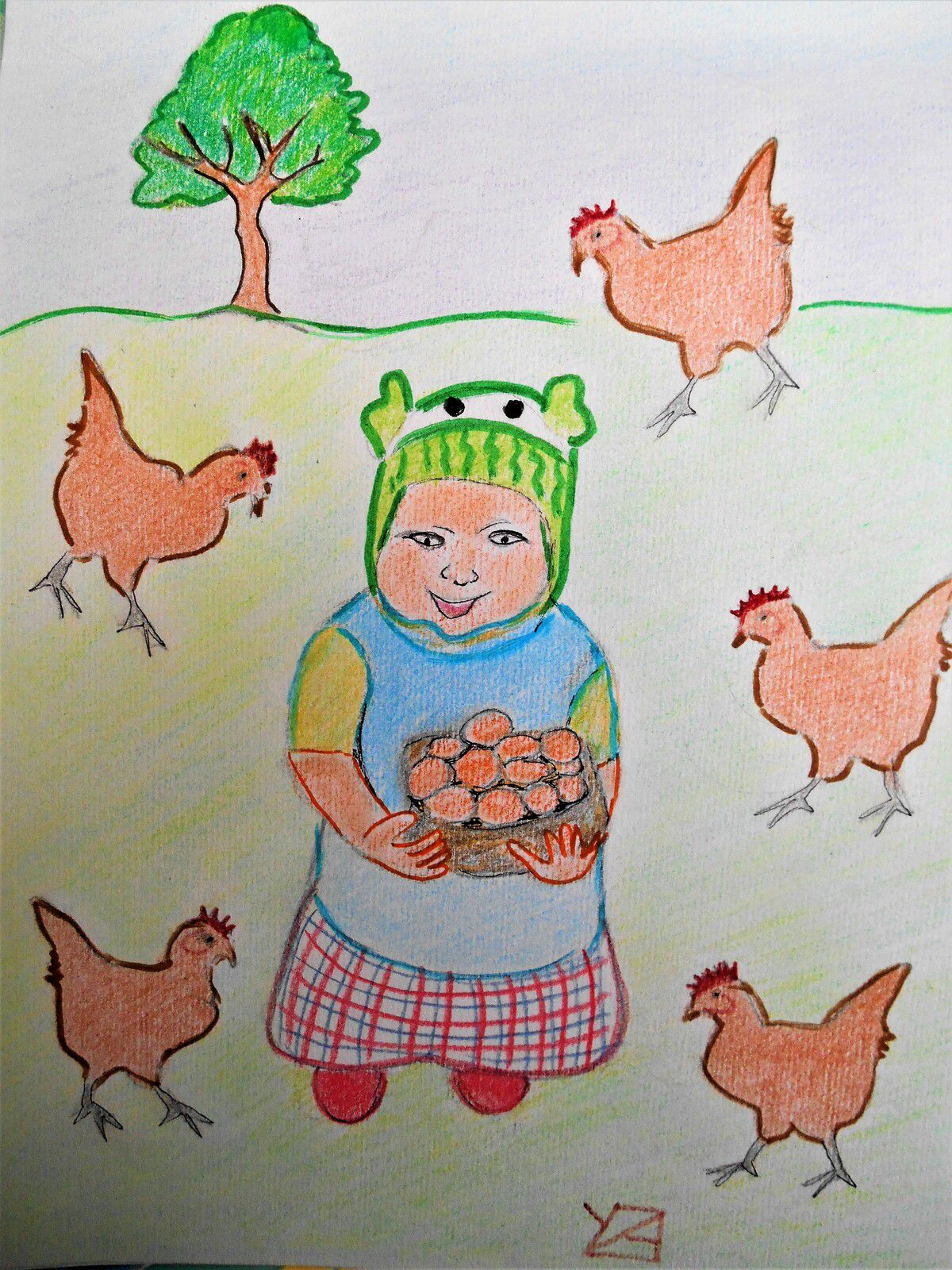 chasse aux oeufs (crayons)