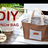 DIY LUNCH BAG TUTORIAL // วิธีทำกระเป๋าผ้ามีปากรูดปิด