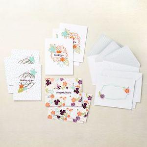 156981 Kit de cartes tout compris Notes fleuries stampin up carterie demonstratrice france