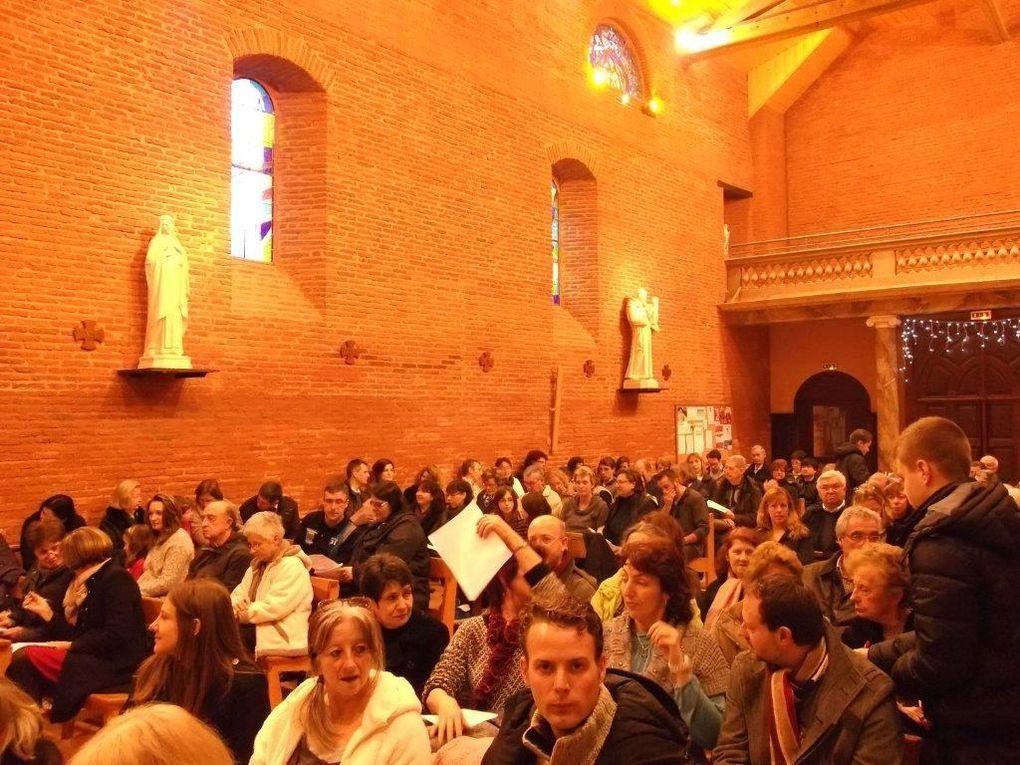 Messe animée par les jeunes de la catechèse et de l'aumonerie. partage sur l'Evangile du Baptême de Jésus