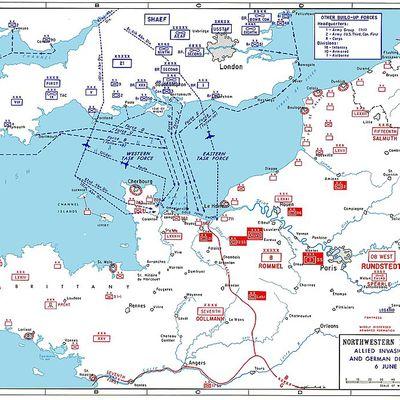 1944 le 6 juin Débarquement en Normandie