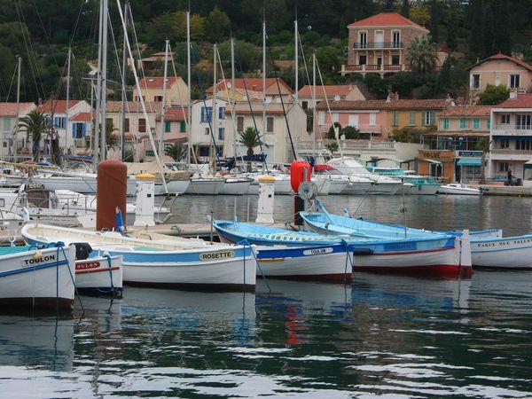 Les pointus de Saint-Mandrier, les bateaux de pêche...